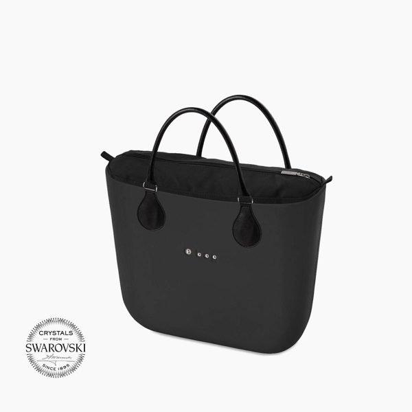 O Bag mini logo Swarovski