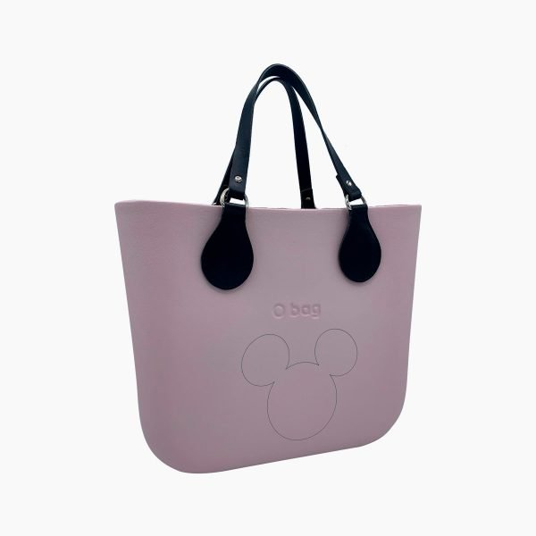 O Bag mini Disney patch Mickey Head cipria